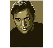 Captain Kirk stylized in gold (Star Trek) Photographic Print