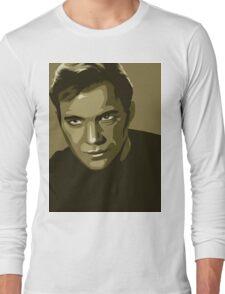 Captain Kirk stylized in gold (Star Trek) Long Sleeve T-Shirt