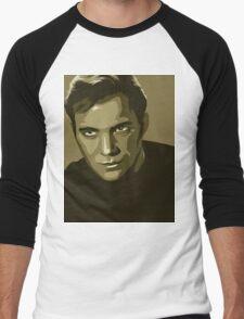 Captain Kirk stylized in gold (Star Trek) Men's Baseball ¾ T-Shirt