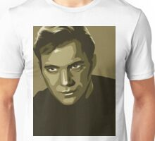 Captain Kirk stylized in gold (Star Trek) Unisex T-Shirt