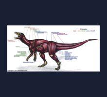 Eoraptor Muscle Study One Piece - Short Sleeve