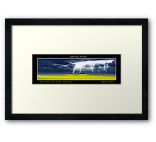 Lightning Of Ruin Panorama Framed Print