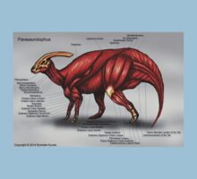 Parasaurolophus Muscle Study One Piece - Short Sleeve