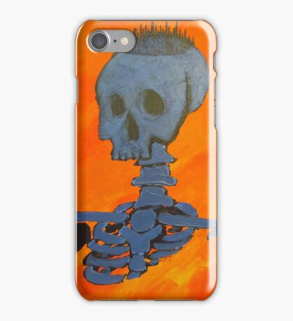 Blue City On Skull iPhone Case/Skin