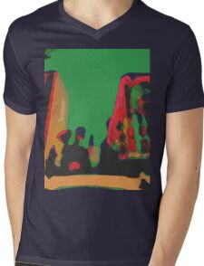 Acidic nature Mens V-Neck T-Shirt