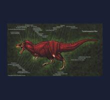 Tyrannosaurus Rex Muscle Study One Piece - Short Sleeve