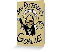 My Patronus is a Goalie (PIT Edition) Greeting Card