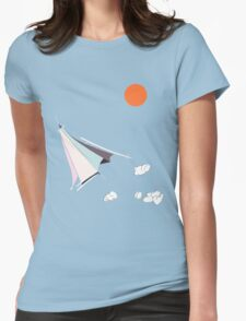 Paper Spaceship 1 Womens Fitted T-Shirt