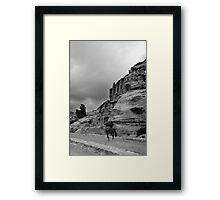 man on horseback, Petra Jordan Framed Print