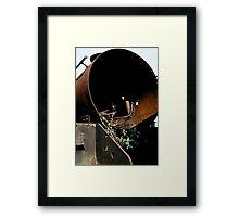 Discarded steam locomotive, UK, 1970s. Framed Print