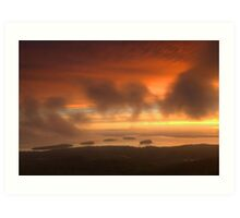 Sunrise From Cadillac Mountain Art Print