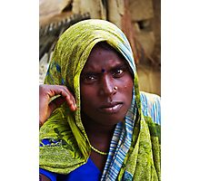 The Woman at the Peepal Tree Photographic Print