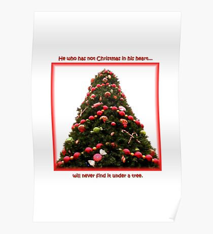 Christmas Under A Tree Poster
