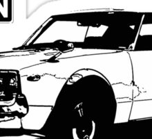 Nissan Datsun 240k (b&w) Sticker