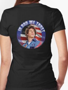 IN ROD WE TRUST Womens Fitted T-Shirt