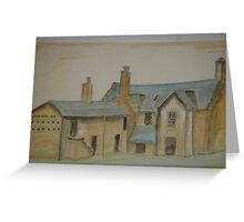 rear elevation of oldhouse in north wales.... Greeting Card