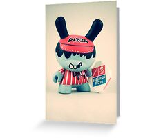 Pizza Dunny  Greeting Card