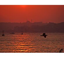 Istanbul during the sunset. Photographic Print