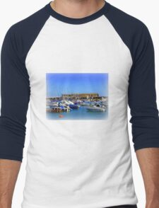 Lyme Regis Scene Men's Baseball ¾ T-Shirt