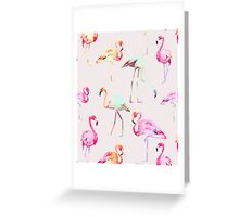 Flamingo Formation #redbubble Greeting Card
