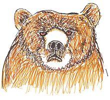 Grumpy Old Bear Photographic Print