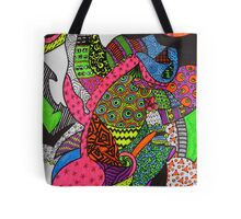 Abstract Fluoro 1 Entire Work Tote Bag