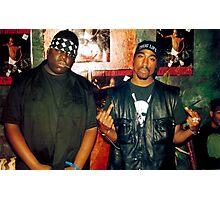 2pac Tupac and Biggie Notorious Big Shirt Photographic Print