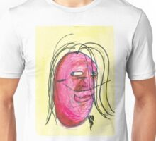 Self-Portrait of the Artist (2) - Done with eyes closed Unisex T-Shirt