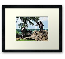Freedom Crossing Monument ~ Lewiston, NY Framed Print