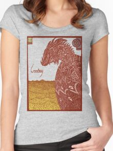 Smaug and His Treasure Women's Fitted Scoop T-Shirt