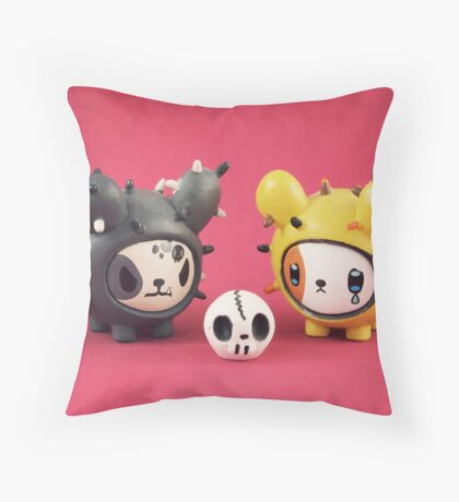 Cactus Pups Throw Pillow