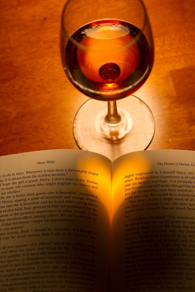 A Good Book And A Glass of Wine by David Stegmeir