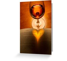 A Good Book And A Glass of Wine Greeting Card