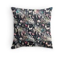 Fantasy Flora Print Throw Pillow