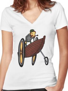 All Ashore Women's Fitted V-Neck T-Shirt