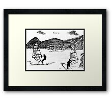Wind Surfing by CG Framed Print