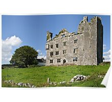 Irish Castle, County Clare, Ireland Poster
