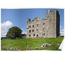 Irish Castle, County Clare, Ireland Poster