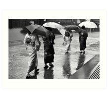Caught In The Rain Art Print