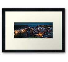 Staithes at Dusk, North Yorkshire Framed Print