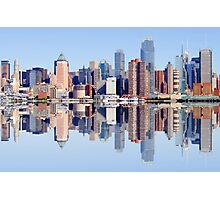 new york city skyline over hudson river Photographic Print