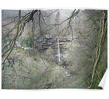 Waterfall Scene Poster