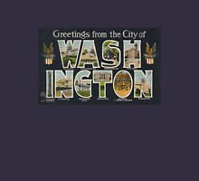 Washington Vintage Travel Postcard Restored Unisex T-Shirt