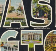 Washington Vintage Travel Postcard Restored Sticker