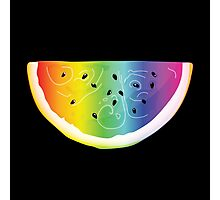 Rainbow Watermelon Photographic Print