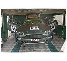 R S Williams Paddock Garage Poster