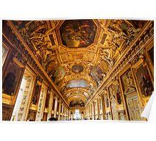Louvre Museum interior, Paris Poster