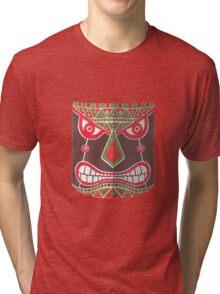 The Polynesian Mask Tri-blend T-Shirt