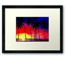 Sunset at the Beach Framed Print