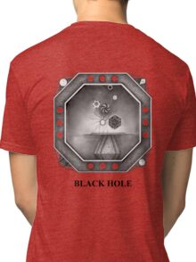 BLACK HOLE (rear view style) Tri-blend T-Shirt